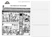 English Worksheet: Describing parts of the house