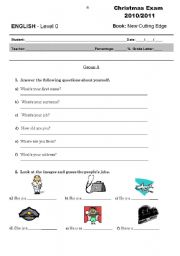 English Worksheet: Starters exam for adults