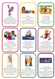 English Worksheets: WRITING OR SPEAKING CARDS - APRIL