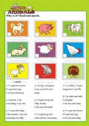 English Worksheet: FARM ANIMALS - Descriptions