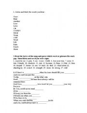 English Worksheet: you�ll never stand alone, whitney houston