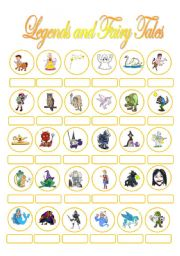 fairy tales vocabulary: