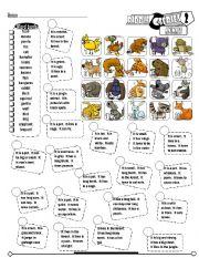 English Worksheets: Riddle Series_02 Animals (Fully Editable + Key)