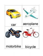 English Worksheet: Transport Flash Cards (set of 22)