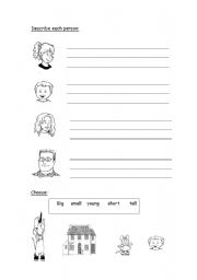 English Worksheets: describing