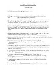 english worksheets animal farm book the elephant man movie vocabulary test. Black Bedroom Furniture Sets. Home Design Ideas
