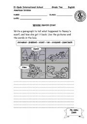 English Worksheets: Nancy�s Scarf