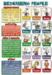 English Worksheet: DESCRIBING PEOPLE 2 (men) *speaking activity*