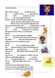 English Worksheets: Song: The cat came back.