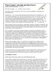 English Worksheet: Angela in Wunderland: Economy reading and writing - Uni FCE CAE