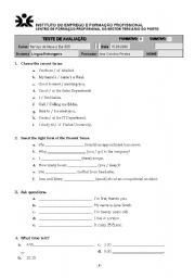 English Worksheets: teste