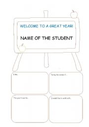 English worksheet: First Day of Class - Student´s Introduction