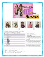 English Worksheet: 16 wishes- Personality adjectives, clothes, physical description
