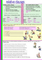 English Worksheets: REALTIVE CLAUSES
