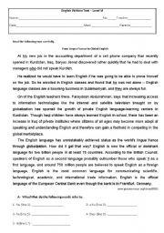 English Worksheets: The english language