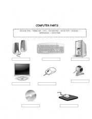 Printables Parts Of A Computer Worksheet english teaching worksheets computer parts parts