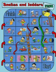 Snakes and ladders (Verbs boardgame)