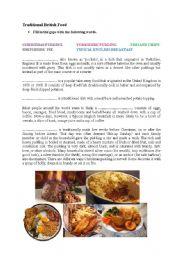 English Worksheet: Traditional British Food