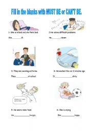 English Worksheet: modal verbs of deduction