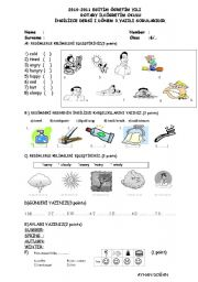 English Worksheets: 6 th grade