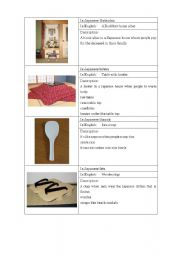 English Worksheet: Describing Japanese things