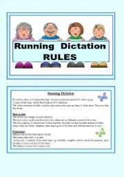English Worksheet: Running dictation Rules and Solutions.3/3