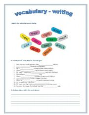 English Worksheets: Match - fill in - write - group