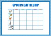 English Worksheets: SPORTS: BATTLESHIP