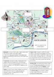 English worksheet: Let´s visit London! (2/4) Part 2 - Worksheet