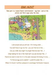 English Worksheet: Egg Hunt