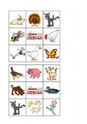 English Worksheets: FARM ANIMALS - Bingo 2 of 2