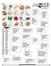 English Worksheets: Riddle Series_03 Food (Fully Editable + Key)