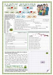 English Worksheet: Family Members