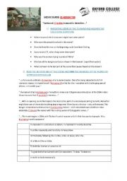 English Worksheet: HEREAFTER-TSUNAMI SCENE-PART 1
