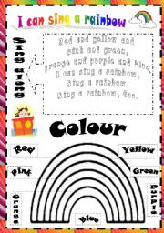 English Worksheet: I can sing a rainbow. Song.