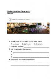 English Worksheets: Problem-Solution wkst