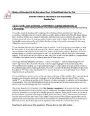 English Worksheet: citizenship and civic responsibility