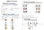 English Worksheet: british money wenquest