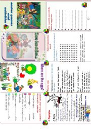 English Worksheet: Easter fun activities