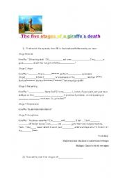 English worksheets: the five stages of a giraffe´s death - photo#22