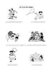 English Worksheets: Activities