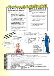 English Worksheet: Glee: Gerunds, Infinitives, Base form