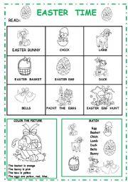 English Worksheet: EASTER TIME