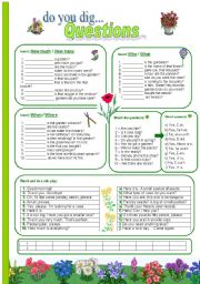 English Worksheet: Questions - theme: plants