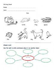 English Worksheets: writing work sheet