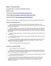 English Worksheet: Beowulf guide