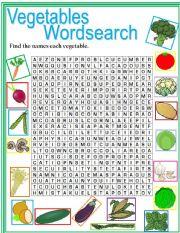 Vegetables Wordsearch
