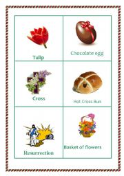 English Worksheet: Easter picture cards  set no   2