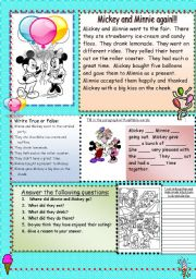 English Worksheets: Mickey and Minnie again!!