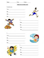 English Worksheets: What do you want to do
